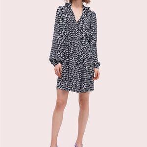 NWT!! Kate Spade ♠️ pop scallop crepe dress